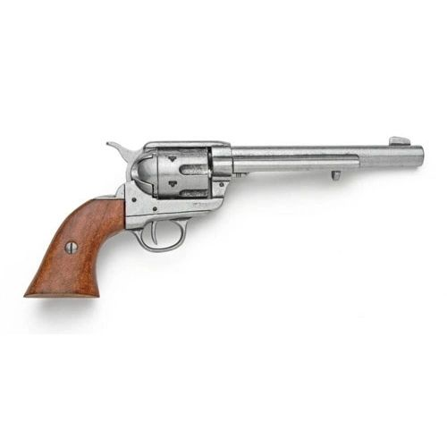 Old West Replica 1873 Grey Finish Cavalry Single Action Revolver Caps-Firing Gun