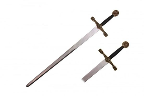 "Excalibur 45"" Long Durable Foam Sword with Black & Gold Handle"