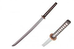 "Japanese 38"" Long Durable Foam Katana Sword in Black & Silver Handle"