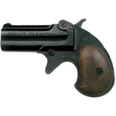 Old West Replica .22 Caliber Blank Firing Double Barrel Derringer Black Finish