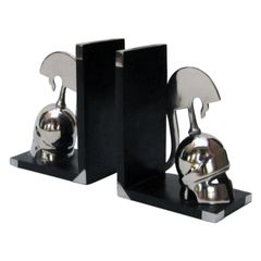Miniature Medieval Warrior Helmet Bookends