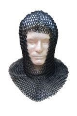 Medieval Knights Butted Steel Chain Mail Coif Head Armor