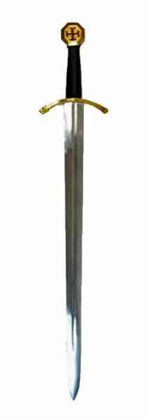 "Medieval 38"" Knights Templar Steel Sword Replica"