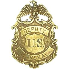 Deputy United States Marshal Eagle Badge by Denix - Brass