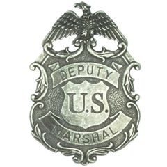 Deputy United States Marshal Eagle Badge by Denix - Antique Nickle Finish