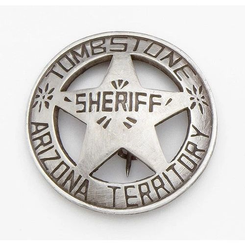 Old West Tombstone Arizona Sheriff's Badge by Denix - Antique Silver Finish