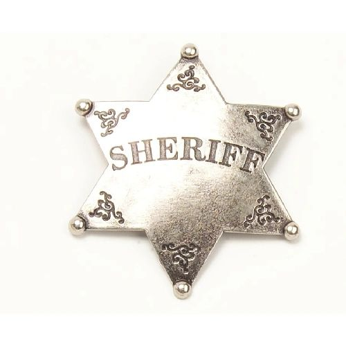 Old West Sheriff's Badge by Denix - Antique Nickle Finish