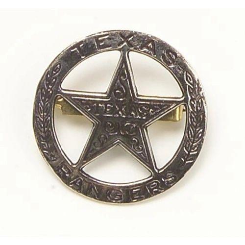 Old West Denix Replica Circular Texas Ranger's Badge– Antiqued Silver Finish