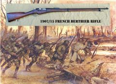 French Berthier 1907/15 Rifle Exhibit Grade Resin Reproduction with Original Wood Stock