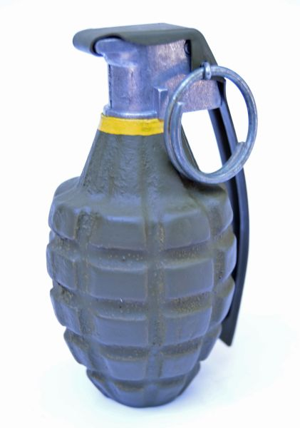 Functional Inert Replica WWII MkII Fragmentation (Pineapple) Hand Grenade  with M10A2 Series Fuse