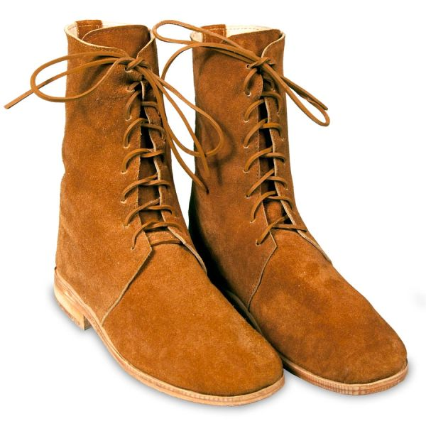 18th & 19th Century Military Trekker Half Boots - Brown Leather