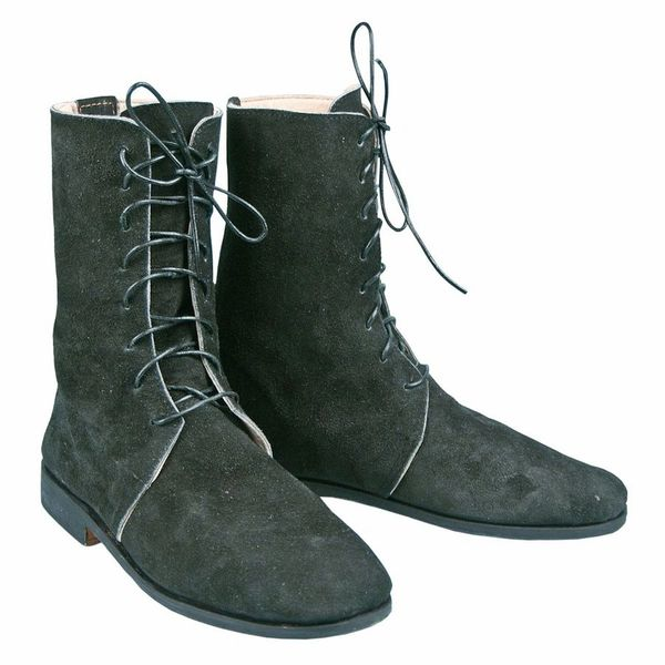 18th & 19th Century Military Half Boots - Black Leather
