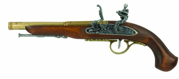 Colonial Replica English Percussion Model Dueling Pistol Non-Firing Replica