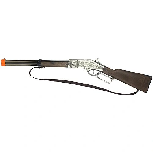 "Gonher Cowboy Lever Action Rifle 32"" Long - Chrome"