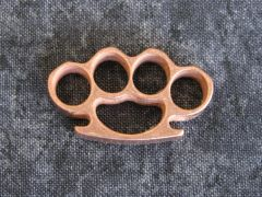 Mini Brass Knuckles Lanyard Bead - Copper
