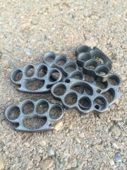 Mini Brass Knuckles Lanyard Bead - Zirconium