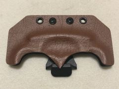 Brown Leather Kydex Sheath with Belt Clip
