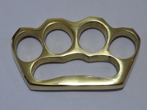 Old School Series Solid Brass Knuckles - Style 4