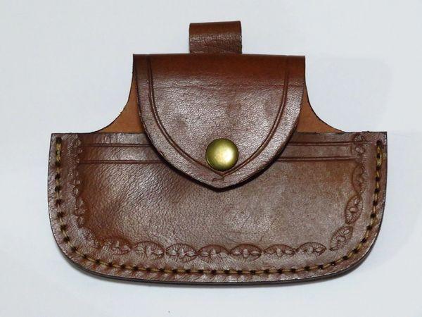 Genuine Leather Sheath - Brown