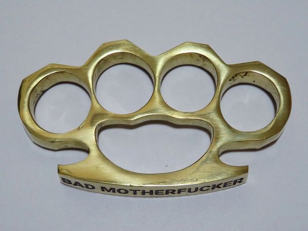 BAD MOTHERFUCKER Engraved Real Deal Solid Brass Knuckles