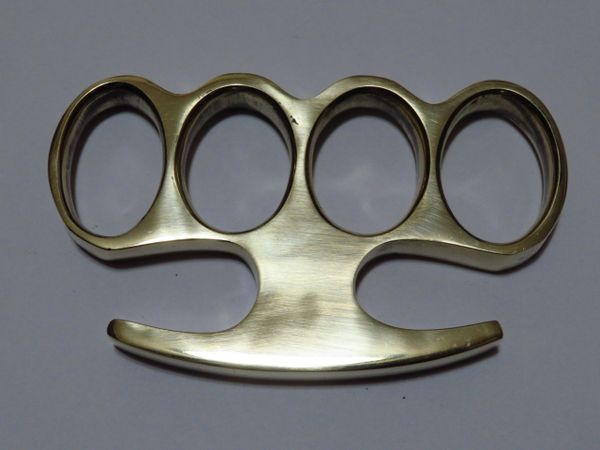 Old School Series Solid Brass Knuckles - Style 6