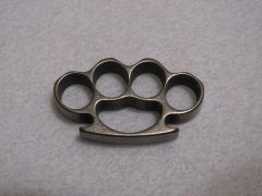 Mini Brass Knuckles Lanyard Bead - Titanium