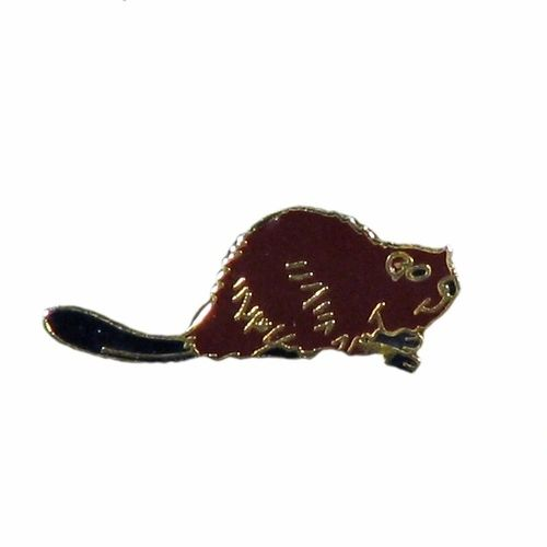 BEAVER WILDLIFE ANIMAL METAL LAPEL PIN BADGE .. NEW