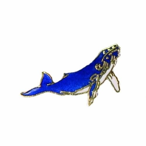 BLUE WHALE WILDLIFE ANIMAL METAL LAPEL PIN BADGE .. NEW