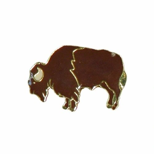 BUFFALO WILDLIFE ANIMAL LAPEL PIN BADGE .. NEW