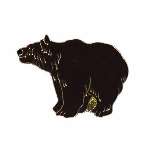 GRIZZLY BEAR WILDLIFE ANIMAL METAL LAPEL PIN BADGE .. NEW
