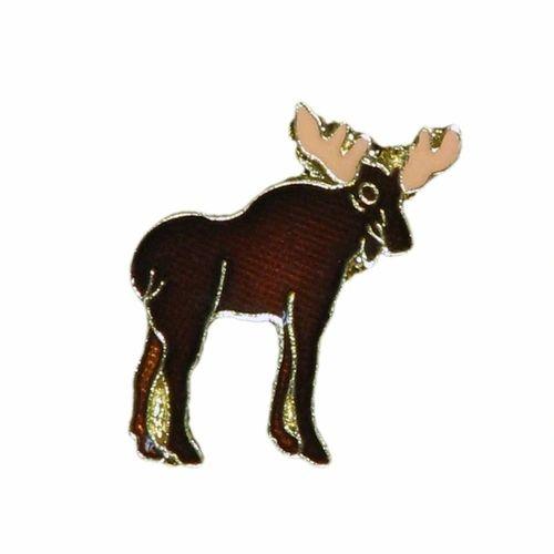 MOOSE WILDLIFE ANIMAL METAL LAPEL PIN BADGE .. NEW