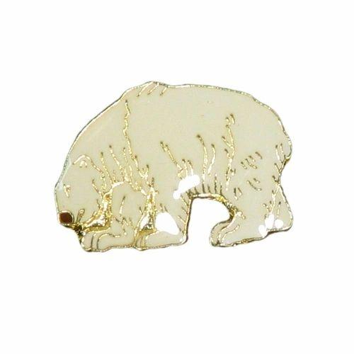 POLAR BEAR WILDLIFE ANIMAL METAL LAPEL PIN BADGE .. NEW