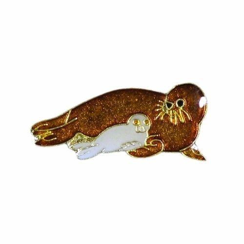 SEAL + BABY WILDLIFE ANIMAL METAL LAPEL PIN BADGE .. NEW