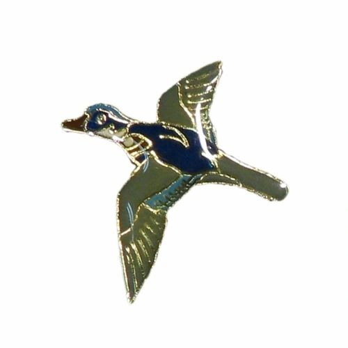 WOOD DUCK WILDLIFE ANIMAL METAL LAPEL PIN BADGE .. NEW