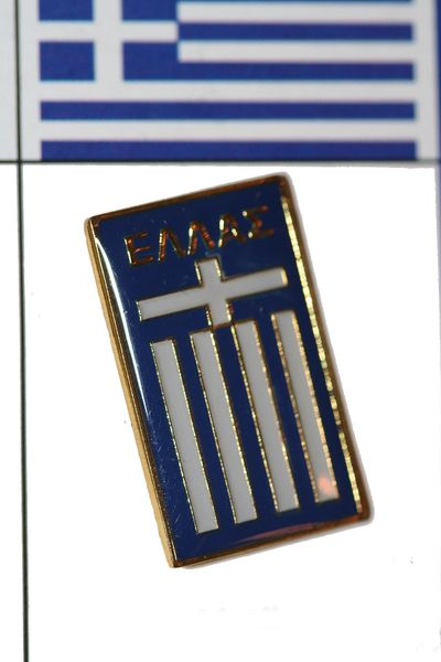"GREECE - FIFA WORLD CUP SOCCER LOGO LAPEL PIN BADGE .. SIZE : 5/8"" X 1"" INCHES .. NEW"