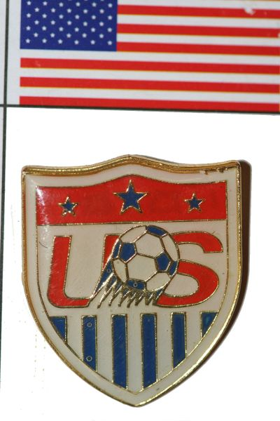 "USA - FIFA WORLD CUP SOCCER LOGO LAPEL PIN BADGE .. SIZE : 1"" X 1 1/8"" INCHES .. NEW"