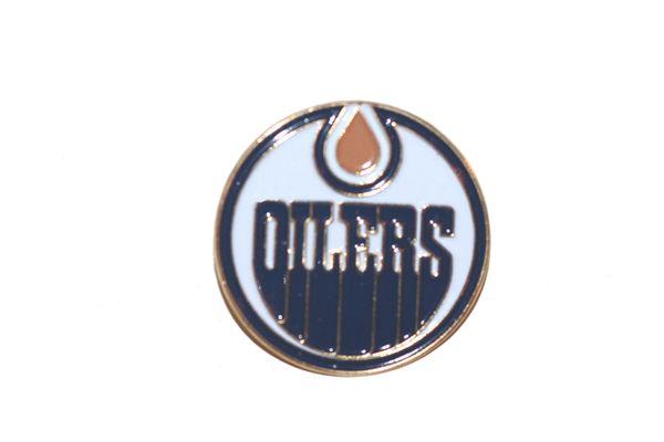 EDMONTON OILERS NHL LOGO METAL LAPEL PIN BADGE .. NEW