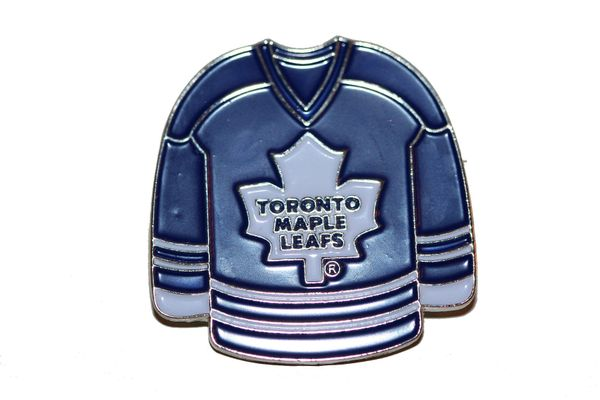 TORONTO MAPLE LEAFS BLUE JERSEY NHL LOGO METAL LAPEL PIN BADGE .. NEW