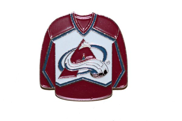 COLORADO AVALANCHE RED JERSEY NHL LOGO METAL LAPEL PIN BADGE .. NEW