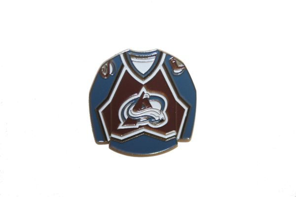 COLORADO AVALANCHE BLUE JERSEY NHL LOGO METAL LAPEL PIN BADGE .. NEW