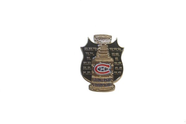 MONTREAL CANADIENS NHL STANLEY CUP CHAMPIONS METAL LAPEL PIN BADGE .. NEW