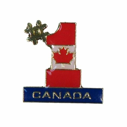 CANADA #1 COUNTRY FLAG LAPEL PIN BADGE .. NEW AND IN A PACKAGE