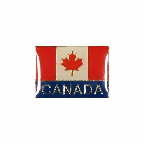 CANADA SQUARE COUNTRY FLAG WITH WORD LAPEL PIN BADGE .. NEW AND IN A PACKAGE