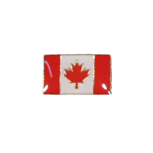 CANADA SMALL SQUARE COUNTRY FLAG WITH WORD LAPEL PIN BADGE .. NEW AND IN A PACKAGE