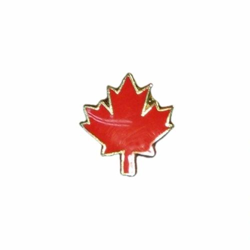 MAPLE LEAF SMALL LAPEL PIN BADGE .. NEW AND IN A PACKAGE