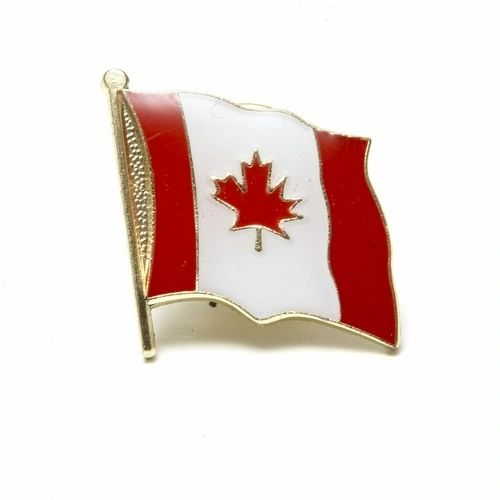 CANADA BIG WAVY COUNTRY FLAG LAPEL PIN BADGE .. NEW AND IN A PACKAGE