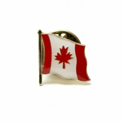 CANADA SMALL WAVY COUNTRY FLAG LAPEL PIN BADGE .. NEW AND IN A PACKAGE