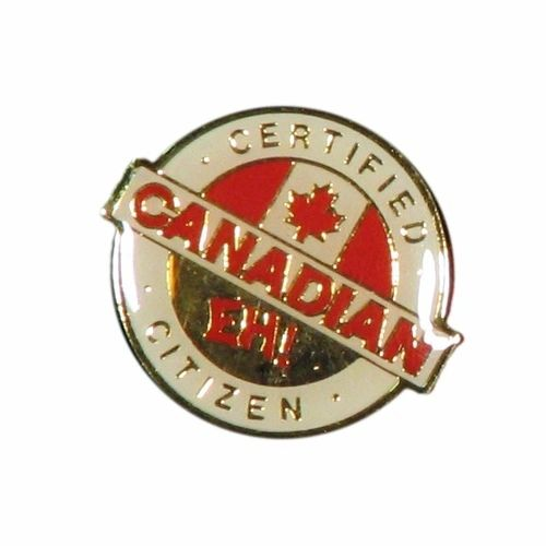 CERTIFIED CANADIAN CITIZEN & CANADA COUNTRY FLAG LAPEL PIN BADGE .. NEW AND IN A PACKAGE