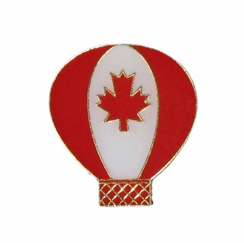 CANADA COUNTRY FLAG IN BALLOON SHAPE LAPEL PIN BADGE .. NEW AND IN A PACKAGE