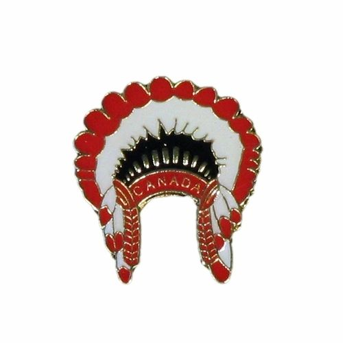 NATIVE HEAD DRESS * CANADA * LAPEL PIN BADGE .. NEW AND IN A PACKAGE